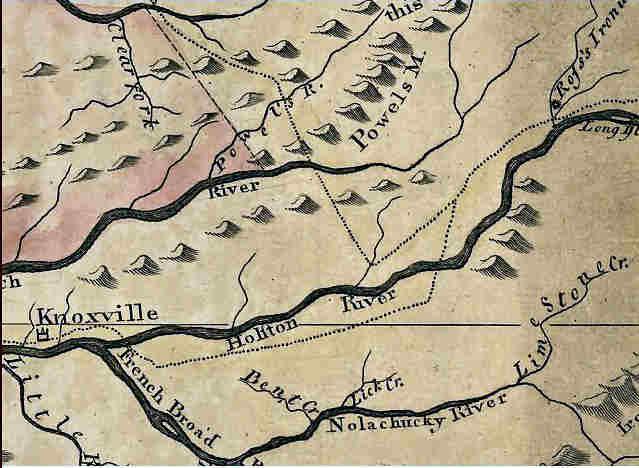 1795 map of Grainger area